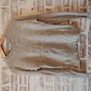 100% Cashmere Grey Speckled Crewneck Sweater